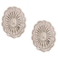 Southwest Moon Oval Concho Post Earrings