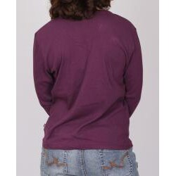 Purple Dickies Ladies Split 'V' Long Sleeve Top
