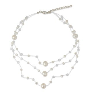 Pearl 'Gossamer White' Necklace (5-10 mm) (Thailand)