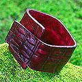 Leather 'Fearless in Red' Bracelet (Indonesia)