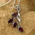 Sterling Silver 'Temptation' Garnet Necklace (India)