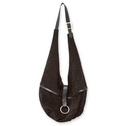 Leather 'Miraflores at Midnight' Medium Sling Tote Handbag (Peru)