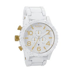 Nixon Men's 51-30 Chrono All White and Gold Watch