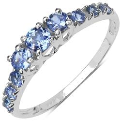 Malaika Sterling Silver 1/2ct TGW Tanzanite Ring