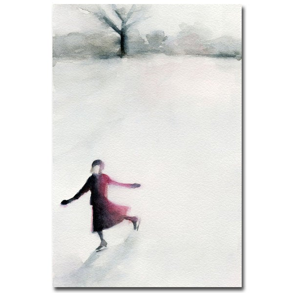 Beverly Brown 'Girl Ice Skating' Canvas Art