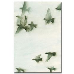 Beverly Brown 'Flock of Pigeons II' Canvas Art