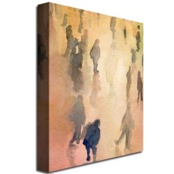 Beverly Brown 'Figures Grand Central New York' Canvas Art