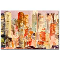 Beverly Brown 'Midtown Dusk New York Skyline' Canvas Art