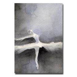 Beverly Brown 'Ballet Dancer in a White Tutu' Canvas Art