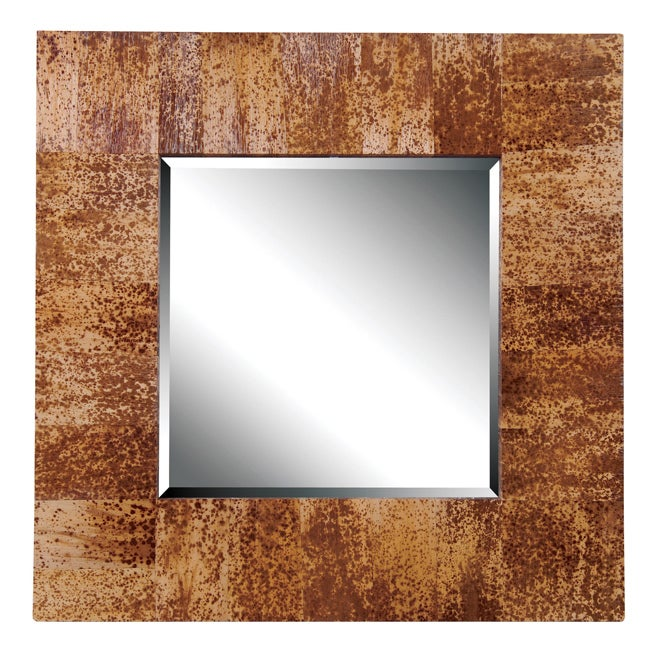 Tropical Banana Leaves Wall Mirror
