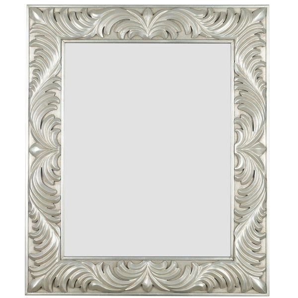 Thorne Gilded Antique Silver Wall Mirror