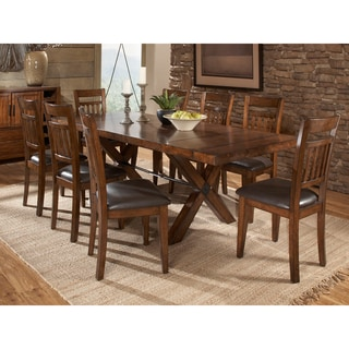 Inverness Warm Oak Turnbuckle 9-piece Mission Dining Set
