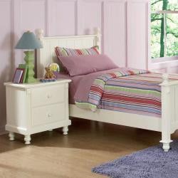 Macedonia White 5-Piece Twin Bed Bedroom Set