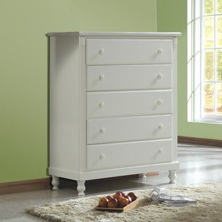 Macedonia White 5-drawer Chest