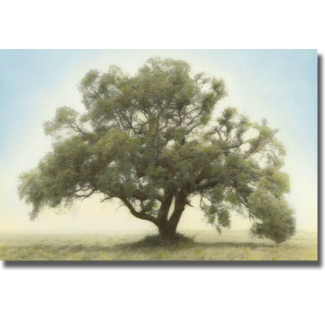 William Guion 'Oak and Blue Sky' Canvas Art