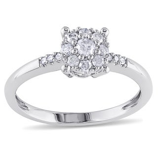 Miadora 14k White Gold 1/4ct TDW Diamond Engagement Ring (G-H, I1-I2)