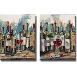 Heather French-Roussia 'Uncorked I and II' 2-piece Canvas Art Set