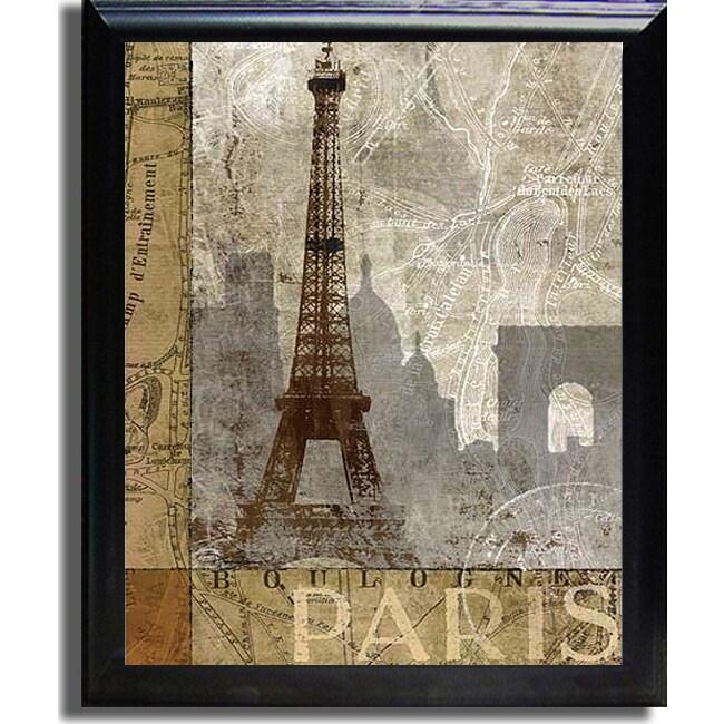 Keith Mallett 'April in Paris' Framed Canvas Art