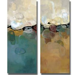 Laurie Maitland 'Retro Jewels' 2-piece Canvas Art Set