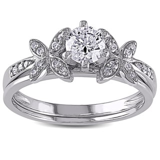 10k White Gold 5/8ct TDW Diamond Bridal Set (G-H, I2-I3)