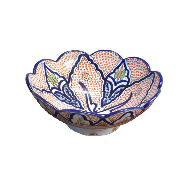 Hand-Painted Ceramic Bowl (Morocco)