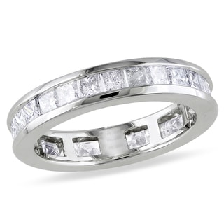 Miadora Signature Collection  Miadora 14k White Gold 2ct TDW Channel-set Diamond Eternity Ring (G-H, SI1-SI2)