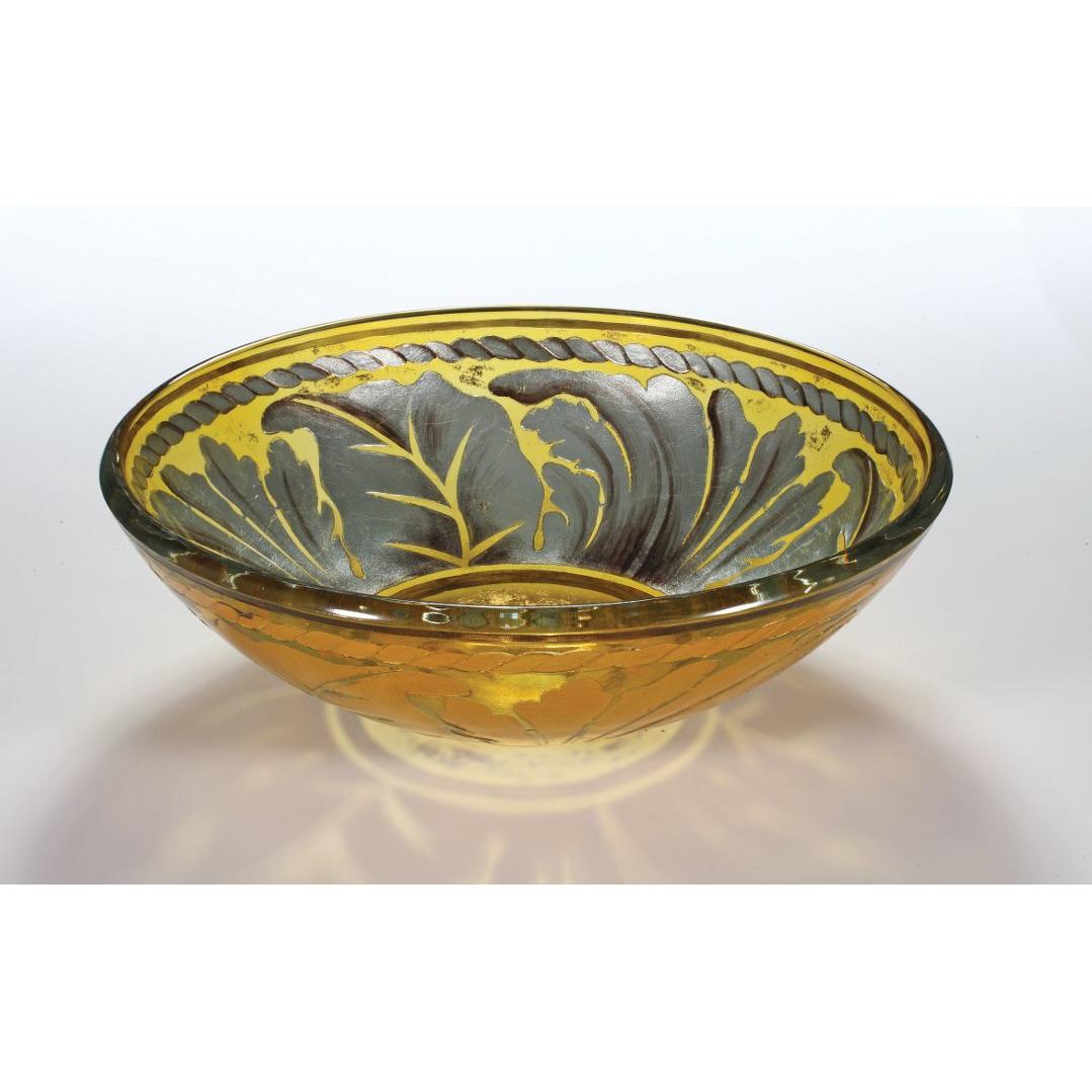 Glass Bowl Vessel Bathroom Sink