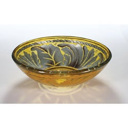 Glass Bowl Vessel Bathroom Sink