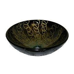 Abstract Glass Bowl Vessel Bathroom Sink