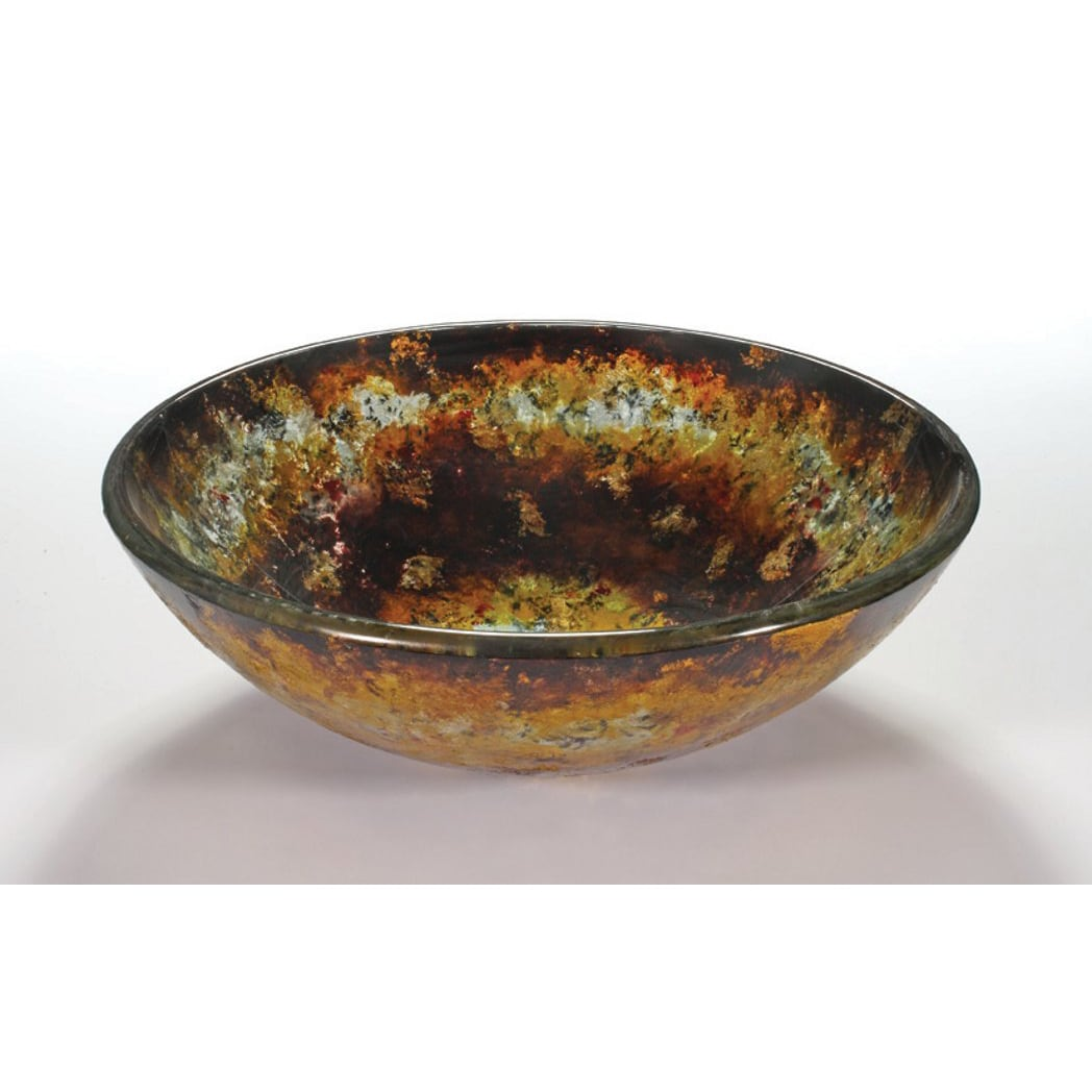 Glass Vessel Bowls : Abstract Glass Bowl Vessel Bathroom Sink - 14535326 - Overstock.com ...