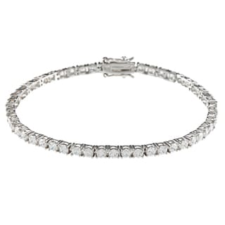 Sunstone Sterling Silver Tennis Bracelet made with SWAROVSKI Zirconia with Gift Box