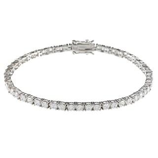 Sunstone Sterling Silver Tennis BraceletMade made with Swarovski Zirconia with Gift Box