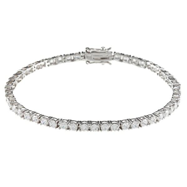 Sunstone Sterling Silver Tennis Bracelet made with SWAROVSKI Zirconia with Gift Box