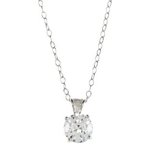 Sunstone High Polish Sterling Silver Solitaire Pendant Necklace Made with SWAROVSKI ZIRCONIA