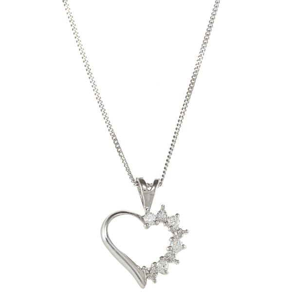 Sunstone Sterling Silver Heart Necklace made with Swarovski Zirconia with Gift Box