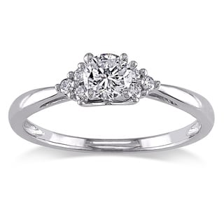 Miadora 14k White Gold 1/2ct TDW Diamond Ring (H-I, I2-I3)
