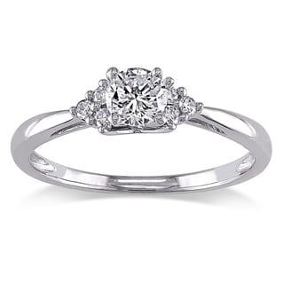 Miadora 14k White Gold 1/2ct TDW Diamond Ring (H-I, I2-I3)