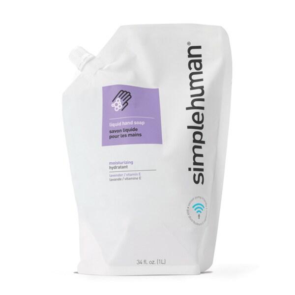 simplehuman Lavender + Vitamin E Moisturizing Liquid Hand Soap 34-ounce Refill Pouch