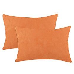 Slam Dunk Tangerine Simply Soft S-backed Fiber Pillows (Set of 2)