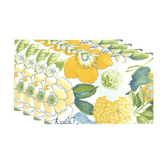 Jolene Terrace Provence Saxony Lined Placemats (Set of 4)