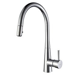 Kraus Single Lever Pull Out Kitchen Faucet Chrome