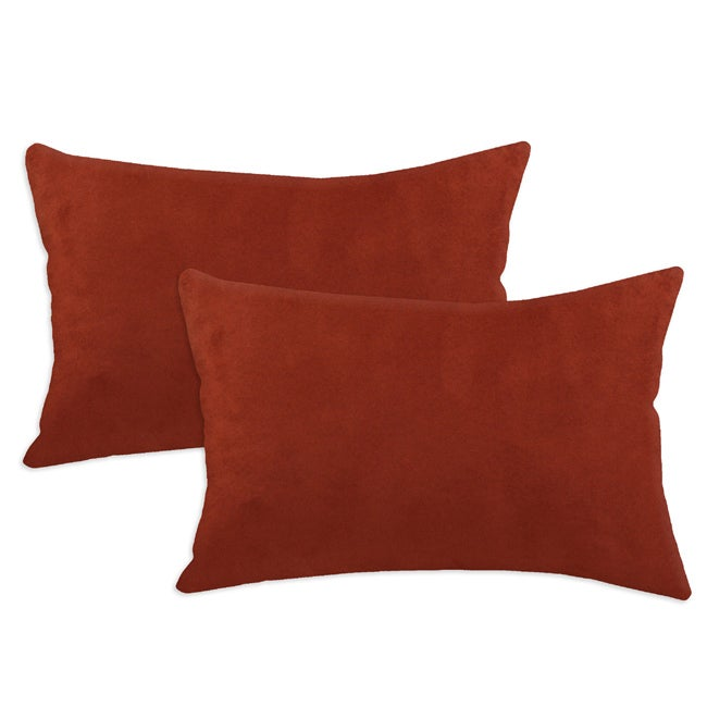 Passion Suede Brick Simply Soft S-backed Fiber Pillows (Set of 2)