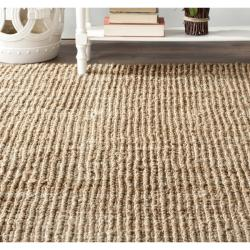 Hand-woven Weaves Natural-colored Fine Sisal Rug (2'6 x 6')