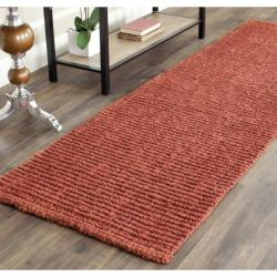 Safavieh Hand-woven Weaves Rust Fine Sisal Rug (2'6 x 8')
