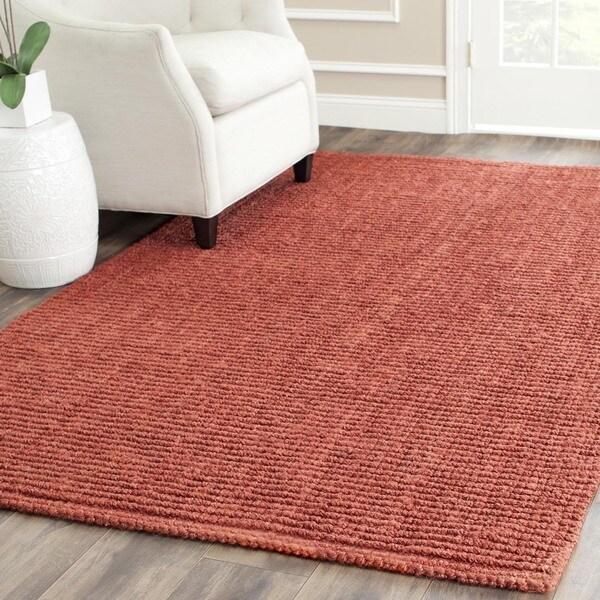 Safavieh Hand-woven Natural Fiber Rust Chunky Thick Jute Rug (9' x 12')