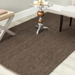 Hand-woven Weaves Brown Fine Sisal Rug (6' Square)