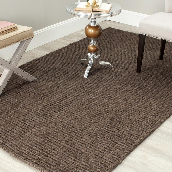 Safavieh Hand-woven Natural Fiber Brown Chunky Thick Jute Rug (8' Square)