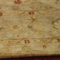 Handmade Majesty Light Brown/ Beige Wool Rug (9' x 12')