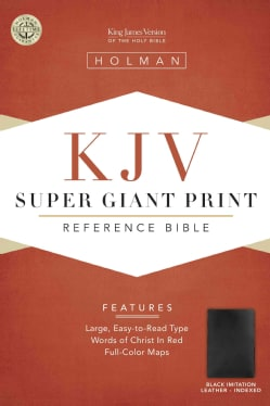 The Holy Bible: Super Giant Print Reference Bible King James Version (Paperback)