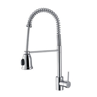 Ruvati RVF1215CH Polished Chrome Commercial Style Pullout Spray Kitchen Faucet
